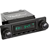 RetroSound HB-403-36-96 Model Two Direct-Fit Radio for Classic Vehicle (Black Face and Buttons and Black Faceplate)