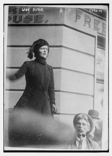 Photo: Lady Astor,coats,women,hats,clothing,portrait photographs,Bain News Service
