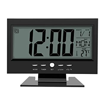 2019 Neuestes Design Neue-moderne Digitale Wecker Lcd Display Kalender Snooze Thermometer Wecker Büro Desktop Tisch Uhr Kalender Kalender, Planer Und Karten