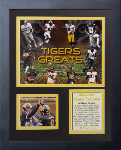 Legends Never Die Missouri Tigers Greats Framed Photo Collage, 11 by 14-Inch
