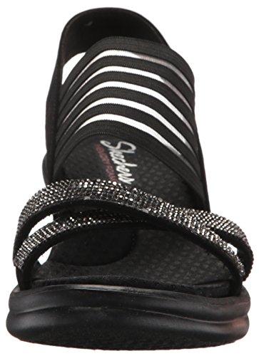 Cali Modern Rumblers Wedge Black Maze Women's Skechers 6ARdww