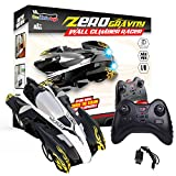 Wall Climbing Zero Gravity Remote Control Racer Vehicle Drive Up Any Smooth Surface, Boy's Birthday Party Gift Electrical RC Black Driving Car (Instruction Guide Included)