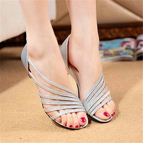 unita casual donna tacco donna da da da tinta sandali primavera con scarpe con in viola da ShangYiSandali donna sandali ed estate donna alto sandali aPxwH5qn7