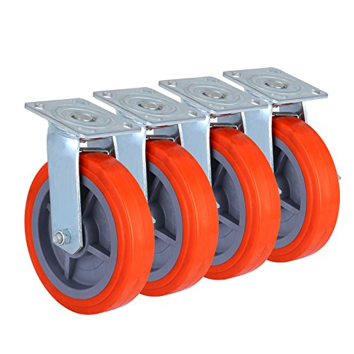 OrangeA Scaffolding Casters 8 X 2 Inch Heavy Duty Swivel ...