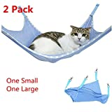 BILIGO 2 Pcs Blue Pet Cat Breathable Mesh Hammocks Little Pet Hanging Sleeping Bed Radiator Pad For Summer, Under Chair Hammock Cradle Crib for Small Animals