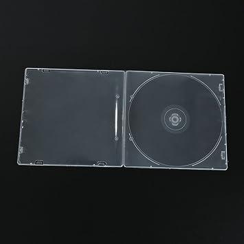 oobest 1 pieza Caja CD caso plástico 5,2 mm transparente ...