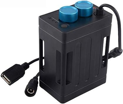 Fesjoy TrustFire Impermeable 18650 Batería Power Bank Caja Caja USB 5V Teléfono de Carga DC8.4V Batería Paquete Caja Caja para Led Luz de Bicicleta: Amazon.es: Deportes y aire libre