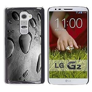 YOYOYO Smartphone Protección Defender Duro Negro Funda Imagen Diseño Carcasa Tapa Case Skin Cover Para LG G2 D800 D802 D802TA D803 VS980 LS980 - charco de lluvia gris naturaleza fresca de manantial