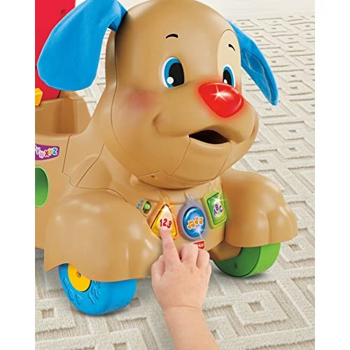 Fisher-Price Laugh & Learn Stride-to-Ride Puppy, Ride-On Toys [Amazon Exclusive]