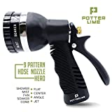 Hose Nozzle Sprayer - Heavy Duty 10 Pattern Garden Spray Attachment