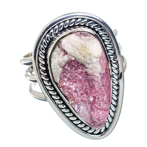 Cobalto Calcite Druzy Ring Size 8 (925 Sterling Silver) - Handmade Jewelry RING877088