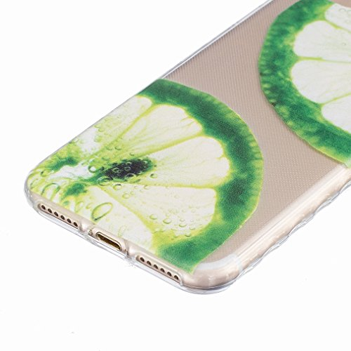 Ougger Apple iPhone 7 Custodia Case, Antigraffio Trasparente Cristallo Durevole Slim Morbido TPU Gomma Silicone Flessibile Protettivo Skin Shell Bumper Rear (Modello 9)