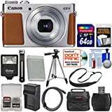 Canon PowerShot G9 X Mark II Wi-Fi Digital Camera (Silver) 64GB Card + Case + Flash + Battery & Charger + Tripod + Strap + Kit