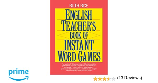 Amazon.com: English Teacher's Book of Instant Word Games ...