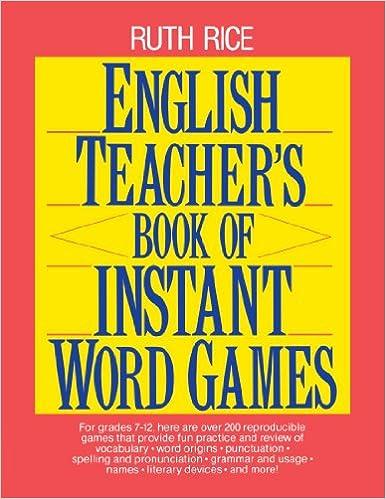 Amazon.com: English Teacher's Book of Instant Word Games ...