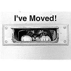 Change of Address POSTCARDS, I've Moved! (Pack of 10) Moving Announcements FPC586CAS