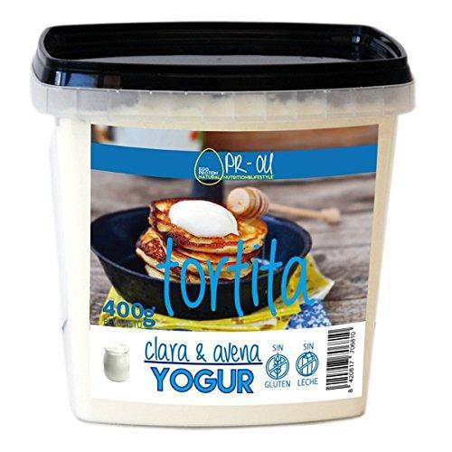 PR-OU Tortitas proteicas de Clara de Huevo y Avena 400 gr - Yogurt: Amazon.es: Alimentación y bebidas
