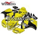 WYNMOTO ABS Plastic Injection Motorcycle Fairing Kit For Suzuki GSX-R1300 GSXR1300 Hayabusa 2014 2015 2016 2008 - 2016 Gloss Light Yellow Black Sportbike Panels