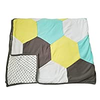 Danha Reversible Hexagon Quilt Blanket for Baby Boys or Baby Girls: The Puffy...