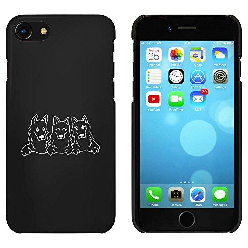 Noir 'Groupe de Chiens' étui / housse pour iPhone 7 (MC00069111)
