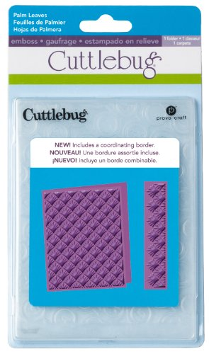 Cuttlebug A2 Embossing Folder, Palm Leaves