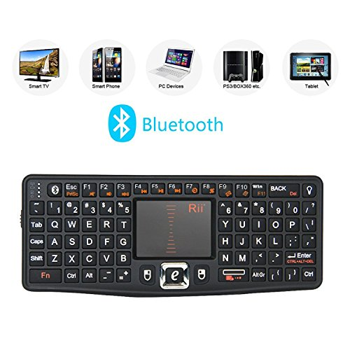 Rii Bluetooth Keyboard Adjustable Touchpad