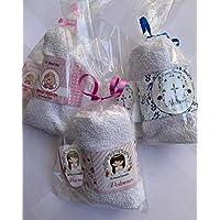 Recuerdos toalla y gel antibacterial 10 piezas
