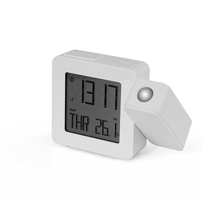 Oregon Scientific RM-338-P - Reloj proyector con temperatura interior, color blanco