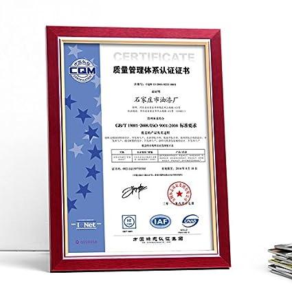 MiniWall A3 certificado de licencia comercial de madera sólida trama ...