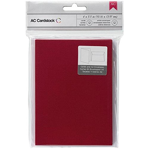 ac cardstock 12x12 red - 1
