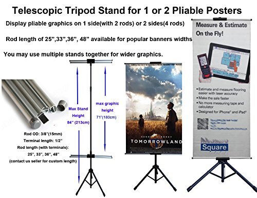 TheDisplayDeal Telescopic Tripod Adjustable 2rods 33 product image
