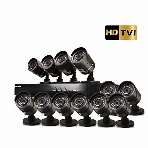 LaView HD DVR 16 Channel 1080P Surveillance System with 3TB HDD and 12 x 1080P Bullet Security Cameras, Free Remote View, LV-KT946FT12A0-T3