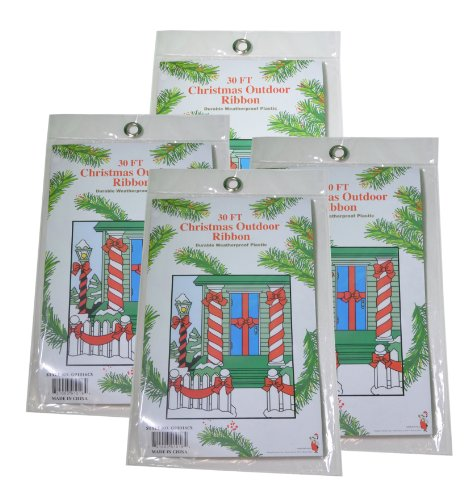 30ft Plastic Outdoor Christmas Ribbon product image
