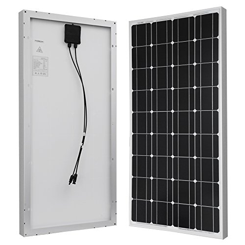 HQST 100 Watt 12 Volt Monocrystalline Solar Panel with MC4 Connectors 12 Volt Battery Charging RV, Boat, Off Grid by HQST