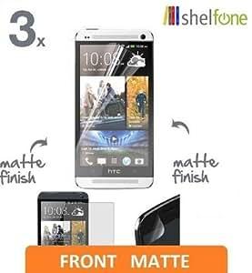Shelfone 3 x Premium Protective MATT Matte Anti Glare Screen Protector Guard Shield For HTC ONE M7