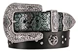 Harley-Davidson Women's Snake Charmer Genuine Leather Belt HDWBT11302-BLK (XL)