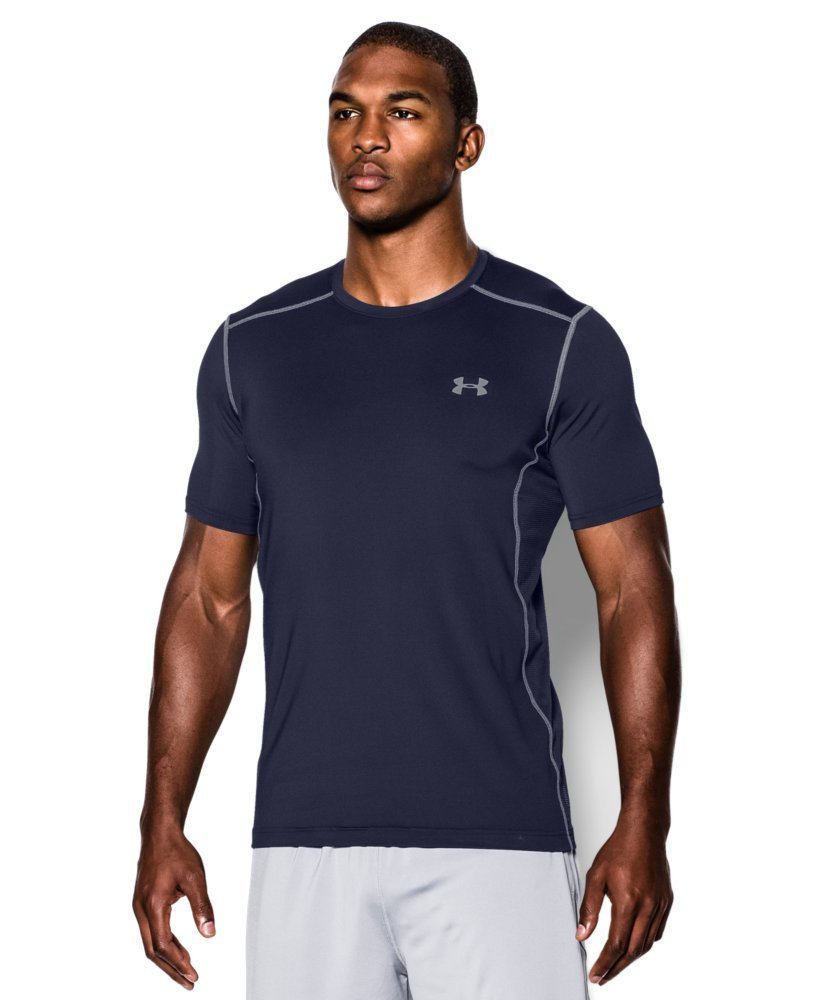 Under Armour Men's Raid Short Sleeve T-Shirt, Midnight Navy (410)/Steel, XX-Large Tall by Under Armour