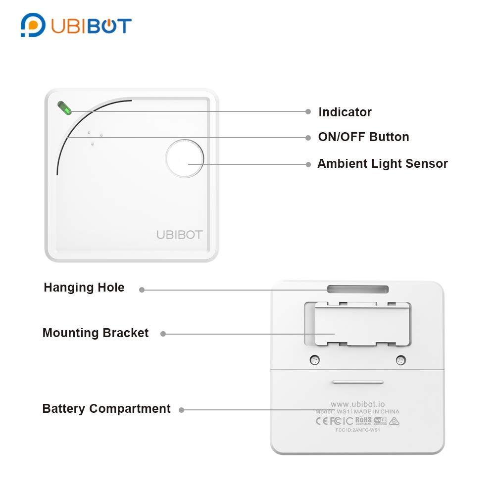 sensor de medio ambiente y alertas de aplicaciones m/óviles monitor de luz humedad de UbiBot temperatura remota Term/ómetro inal/ámbrico con wifi