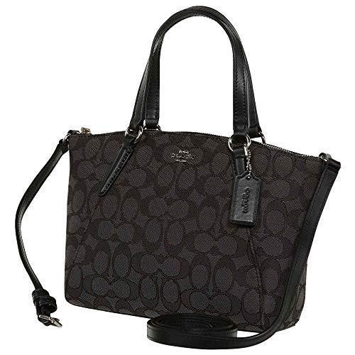 Coach Womens Fabric Dumpling Bag F27580 (Gray Black) (Best Deals On Ladies Handbags)