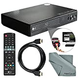 LG Electronics BP550 Wi-Fi and 3D Smart Blu-Ray Disc Player and HDMI Cable + Remote + FiberTique Cleaning Cloth