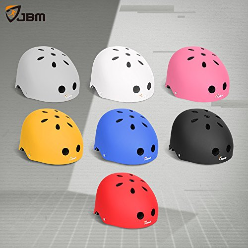 JBM Helmet for Multi-Sports Bike Cycling, Skateboarding, Scooter, BMX Biking, Two Wheel Electric Board and Other Sports [Impact Resistance] (Black, Adult) by JBM international (Image #6)
