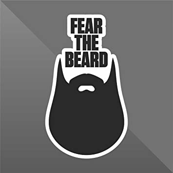 26a95bb02492 erreinge Sticker Fear the Beard - Decal Cars Motorcycles Helmet Wall Camper  Bike Adesivo Adhesive Autocollant Pegatina Aufkleber - cm 14  Amazon.co.uk   ...