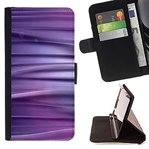 BullDog Case - FOR/Samsung Galaxy Note 4 IV / - / Abstract Purpel Lines /- Monedero de cuero de la PU Llevar cubierta de la caja con el ID Credit Card Slots Flip funda de cuer