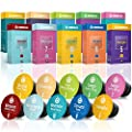 100 Nespresso Compatible Coffee Capsules - Fair Trade Variety Pack includes Flavors High-Intensity and Organic Espresso | Sampler Coffee Capsules | Gourmesso Trial Bundle