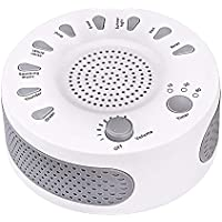White Noise Machine, Portable Sleep Sound Therapy Machine 3 Timers & 9 Natural Sound Options Baby Kids Home Office Bedroom Travel Sleep Timer