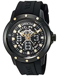 Invicta Men's 'Objet d'Art' Automatic Stainless Steel and Silicone Casual Watch, Color:Black (Model: 22632)