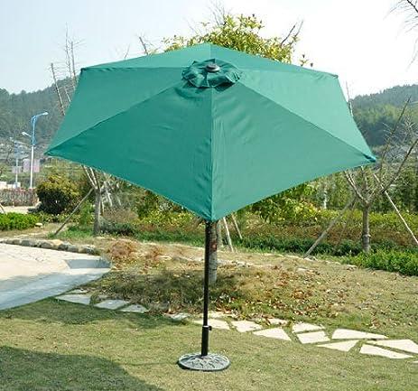 Outsunny Outdoor Aluminum Patio Market Umbrella With Tilt, 9 Feet, Deep  Green