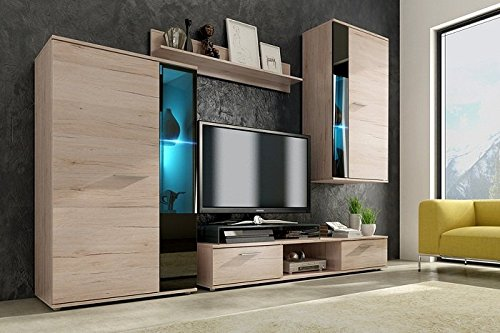 wohnwand primo york interessante ideen f r. Black Bedroom Furniture Sets. Home Design Ideas