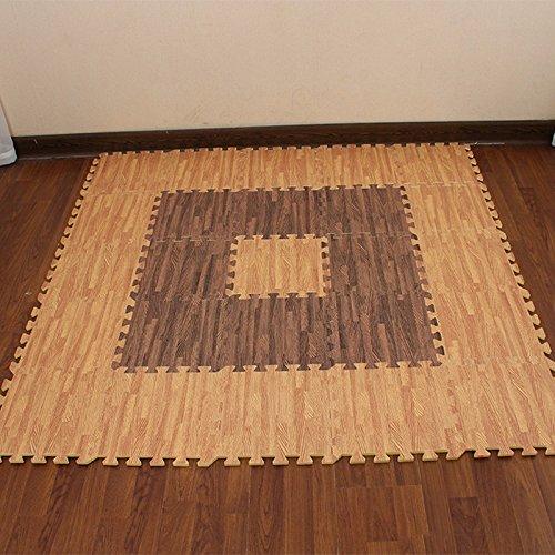 The Emulation flooring foam rollmat large stitching woodgrain Sponge Pad Home Child Foam Puzzle Mats ,30301.2 CM, light by TDLC (Image #4)