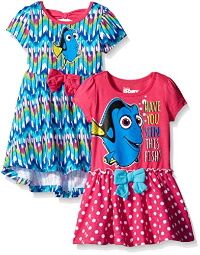 Disney Little Girls' Finding Dory Dresses Have You Seen This Fish, Blue, 6 (Pack of 2) -